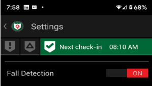 Activate Fall Detection in app