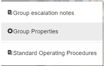 Group properties